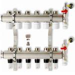Коллектор с расходомером и термостатическими клапанами на 2 выхода Penoroll